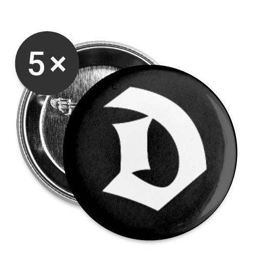 Button D - APPD - Buttons klein 25 mm (5er Pack)