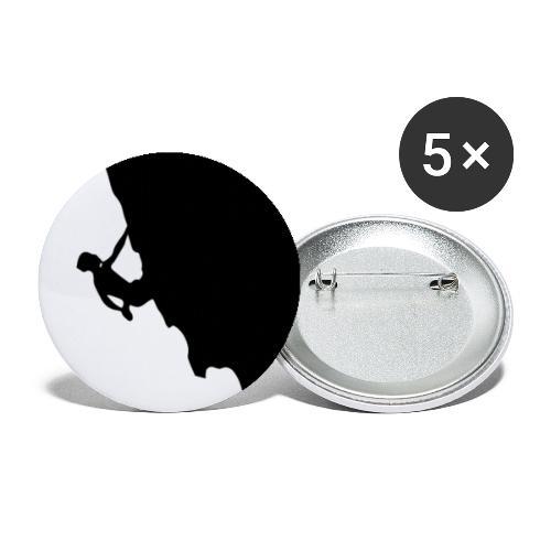 Kletterer in schwarz - Buttons klein 25 mm (5er Pack)
