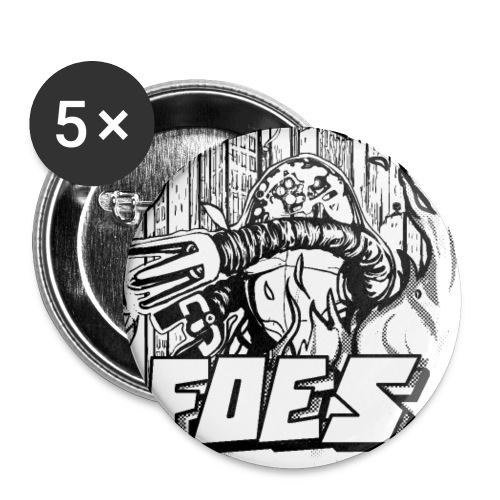 FRIENDS or FOES - Confezione da 5 spille piccole (25 mm)