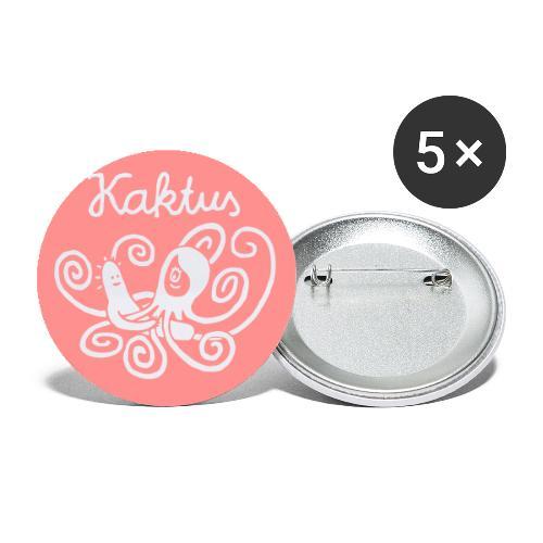 Kaktus und Calamarie - Buttons klein 25 mm (5er Pack)