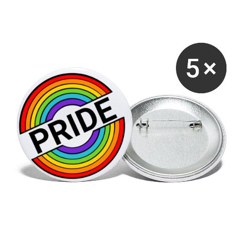 Pride regnbue - Buttons/Badges lille, 25 mm (5-pack)