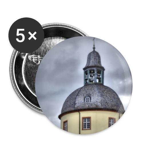 Dicker Turm - Buttons klein 25 mm (5er Pack)