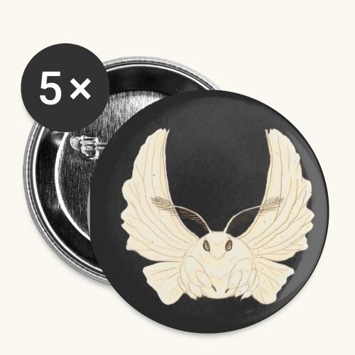 Papillon de nuit fond noir - Lot de 5 petits badges (25 mm)