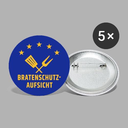 EU Bratenschutz-Aufsicht - Buttons klein 25 mm (5er Pack)