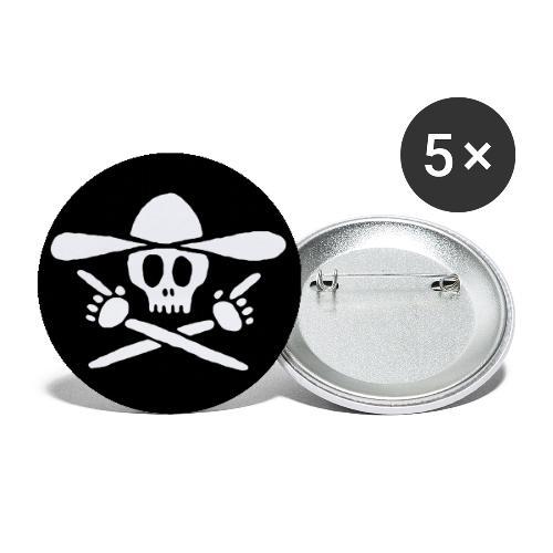 piraten kauboi schwarz - Buttons klein 25 mm (5er Pack)