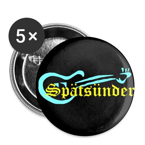 Spätsünder - Buttons klein 25 mm (5er Pack)