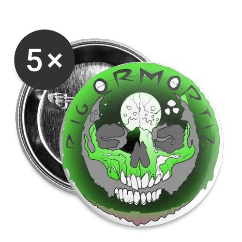 Rigormortiz Metallic Green Design - Buttons small 1''/25 mm (5-pack)