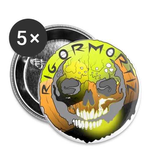 Rigormortiz Metallic Yellow Orange Design - Buttons small 1''/25 mm (5-pack)
