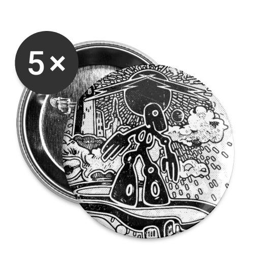 SKY SURFER - Confezione da 5 spille piccole (25 mm)