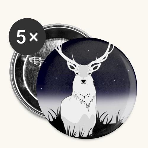 Cerf Blanc - Lot de 5 petits badges (25 mm)