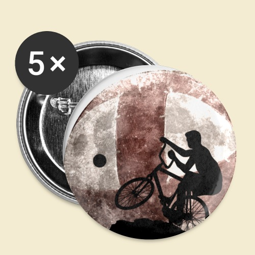 Radball | Cycle Ball Moon - Buttons klein 25 mm