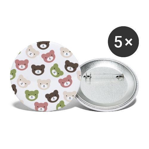 Bears - Paquete de 5 chapas pequeñas (25 mm)