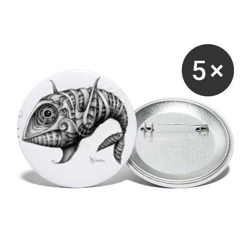 Pesce & Fish - Confezione da 5 spille piccole (25 mm)