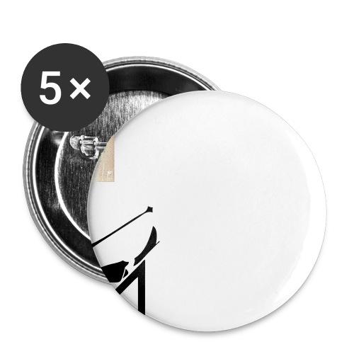 2017 TK Logo Noir sanstexte - Lot de 5 petits badges (25 mm)
