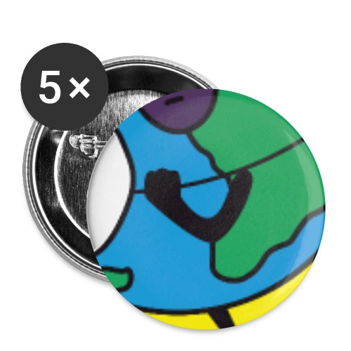 Terre2 - Lot de 5 petits badges (25 mm)