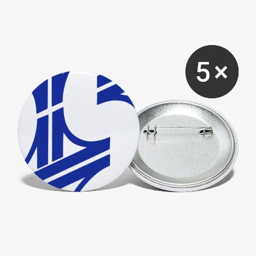 Autobahnkreuze Ketten - Buttons klein 25 mm (5er Pack)