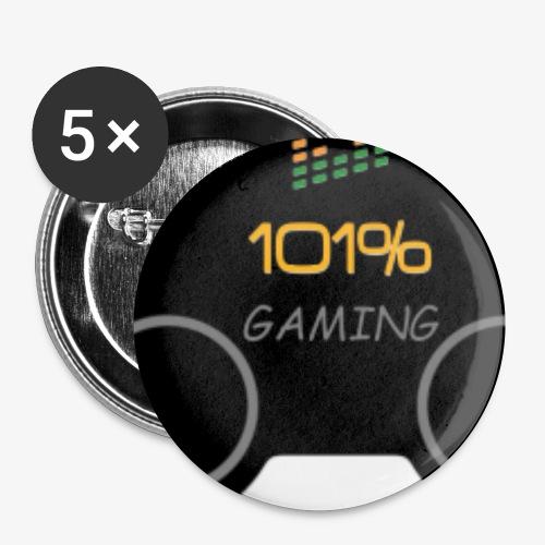 101%GAMING - Lot de 5 petits badges (25 mm)