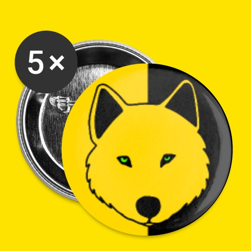 Jasja The Wolf jpg - Buttons small 1''/25 mm (5-pack)
