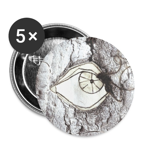 auge original - Buttons klein 25 mm (5er Pack)