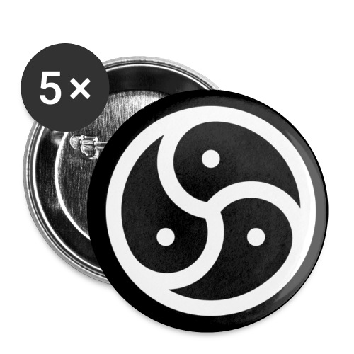 NMN SSC Triskele (Button) - Buttons klein 25 mm (5er Pack)