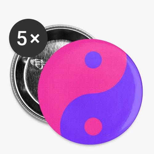 Yin Yang PinkBlue - Paquete de 5 chapas pequeñas (25 mm)
