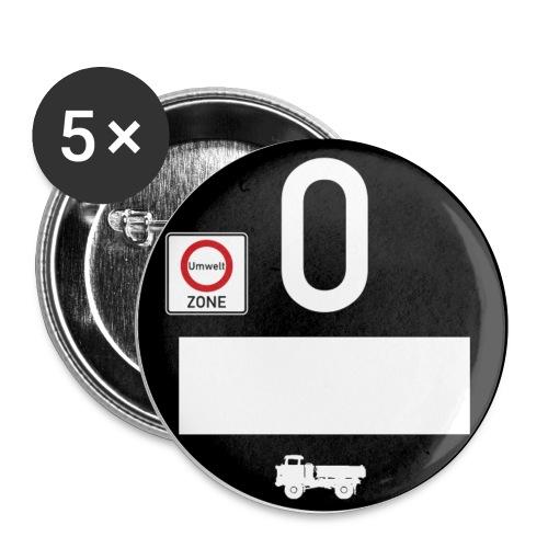 Umweltplakette IFA LKW W50 - Kipper - Buttons klein 25 mm (5er Pack)