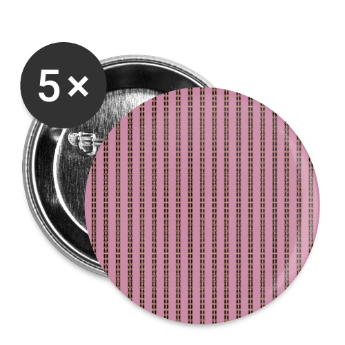 Pink Pinstripe Striped Pattern Gold Pink Retro - Buttons small 1''/25 mm (5-pack)
