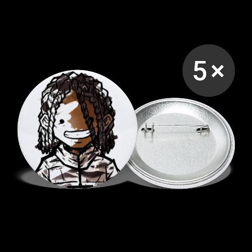 MEHKI DOODLE #1 - Buttons small 1''/25 mm (5-pack)
