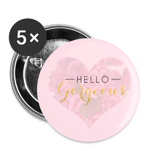 Hello Gorgeous - Buttons small 1''/25 mm (5-pack)