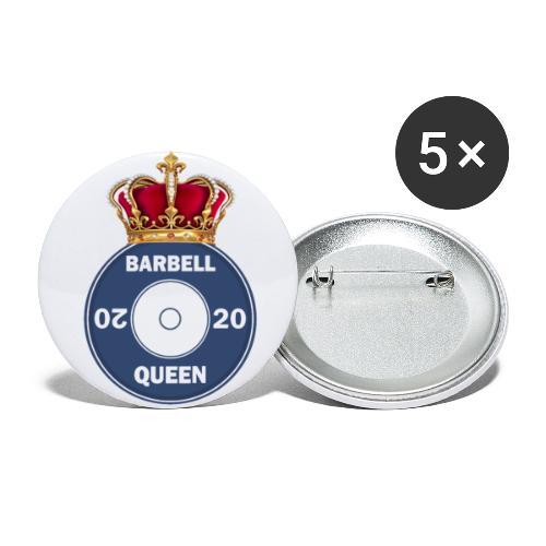 Original Barbell Queen - Buttons small 1''/25 mm (5-pack)