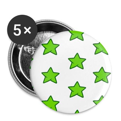 Patrón de estrellas verdes - Paquete de 5 chapas pequeñas (25 mm)