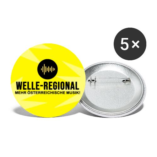 Man darf auch mal Farbe bekennen! - Buttons klein 25 mm (5er Pack)
