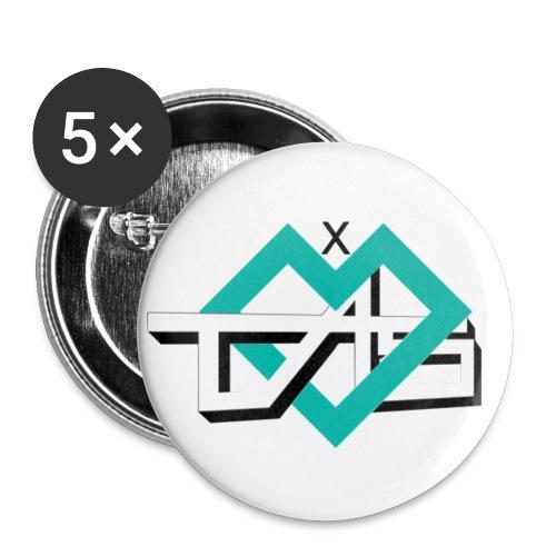 TAS Clan X Spread Shirt - Buttons klein 25 mm (5er Pack)