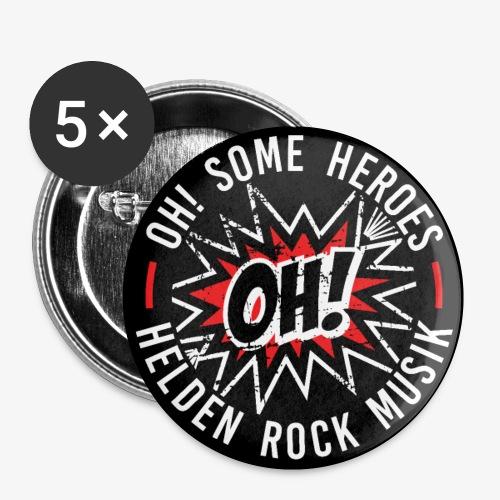 Helden Rock - Buttons klein 25 mm (5er Pack)