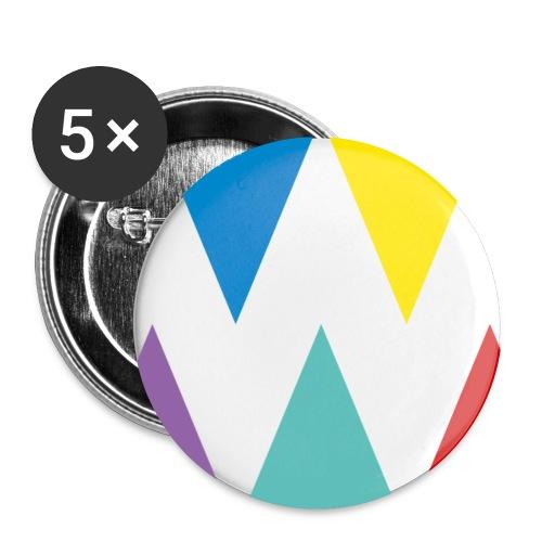 Logo We are les filles - Lot de 5 petits badges (25 mm)
