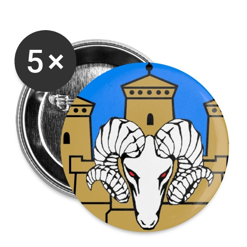 linnanpässi - Rintamerkit pienet 25 mm (5kpl pakkauksessa)