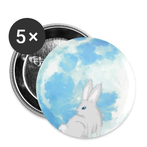 Bunny moon - Buttons small 1''/25 mm (5-pack)