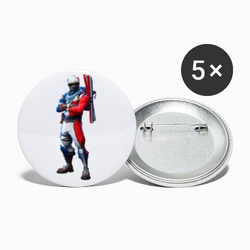 fornite coleccion #1 - Paquete de 5 chapas pequeñas (25 mm)