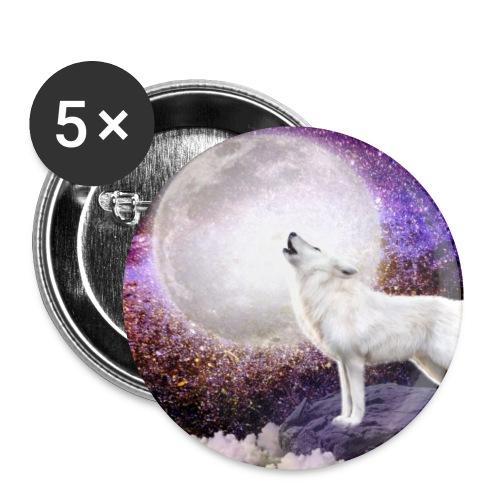 Wolf singing the moonlight enchanted - Badge petit 25 mm