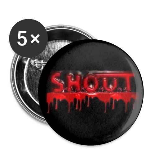 shoutlogoo png - Rintamerkit pienet 25 mm (5kpl pakkauksessa)