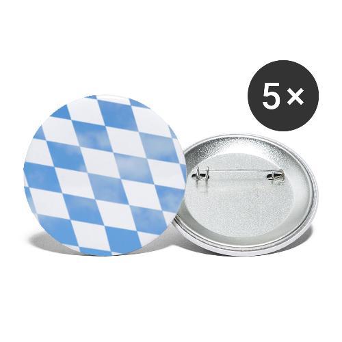 Himmlische Bayern Rauten Bayerische Fahne - Buttons klein 25 mm (5er Pack)