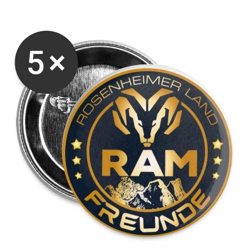RAM-FREUNDE-01 - Buttons klein 25 mm (5er Pack)