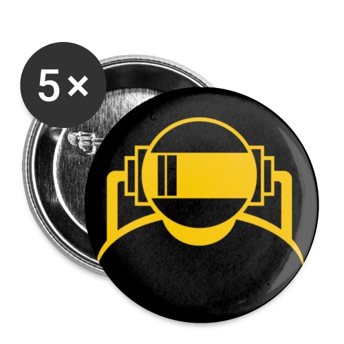 Machine Boy Yellow - Buttons small 1''/25 mm (5-pack)