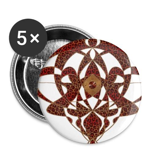 Art Nouveau Art Deco Art Nouveau Vintage Art Gold - Buttons small 1''/25 mm (5-pack)