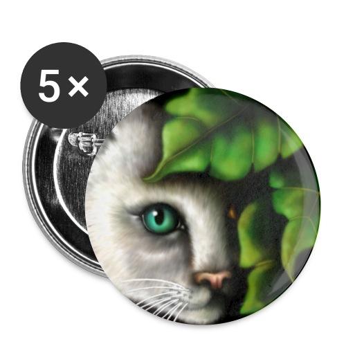 Gatto Shiva - Confezione da 5 spille piccole (25 mm)