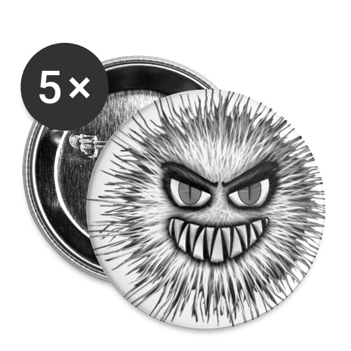 T-shirt - Monstre particule - Lot de 5 petits badges (25 mm)