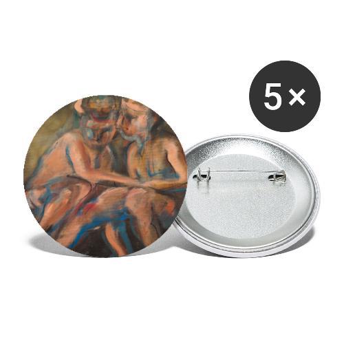 Gli Angeli - Confezione da 5 spille piccole (25 mm)