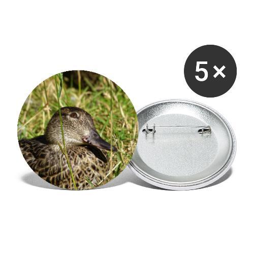 Canard Penseur - Lot de 5 petits badges (25 mm)