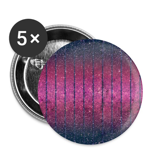 Glitter Muster in Pink rosa Blau schillernd Chic - Buttons small 1''/25 mm (5-pack)