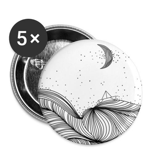 Wegdromen - Buttons klein 25 mm (5-pack)